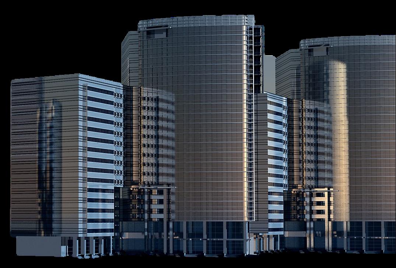 ERHVERVSRET -Fritlagt billede af en erhvervsejendom. Farvetonen i billedet er blå